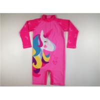 Buy cheap Pink Unicorn Kids UV Swimsuit  Polyester Long Sleeve High Neck Digital Printed from wholesalers