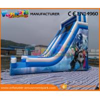Buy cheap Blue PVC Tarpaulin Frozen Commercial Inflatable Slide Inflatable Dry Slide for Kids from wholesalers