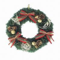 Buy cheap Artificial Garland for Home Decoration/Christmas, Decorated with Bows, Berries/Pine Cones from wholesalers