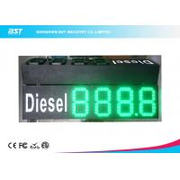 Buy cheap Custom 10 Green Gas Station Digital Price Signs To Display Daily Prices from wholesalers