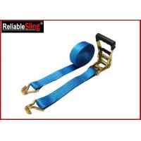 Buy cheap 35mmx10m  Green Ratchet Straps with Double J Hook Ratchet Straps for Cargo Security from wholesalers