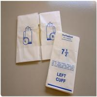 Buy cheap Matt Plastic Film Glove Packaging Bags from wholesalers