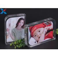 Buy cheap Magnet Clear Acrylic Photo Frame Creative ARC Shape PMMA Pictures Table Frame from wholesalers