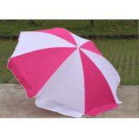 Buy cheap Foldable Pink And White Outdoor Sun Umbrellas Nylon Material With Steel Frame from wholesalers