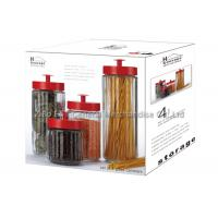 Buy cheap Clear Glass Storage Canisters / glass jar storage containers with lids 2.6L  1.5L product