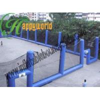 Buy cheap Customized Large Blue Inflatable Paintball Bunkers Arena with Net For Paintball Games from wholesalers