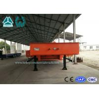 Buy cheap Large Equipment Low Flatbed Trailer / Tri Axle Lowboy Trailers With 8000mm Deck Length from wholesalers