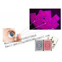 Buy cheap Kem red plastic luminous marked playing cards/uv contact lenses/perspective sunglasses/magic cards/Fournier marked cards from wholesalers