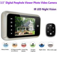 Buy cheap 3.5 inch Screen Digital Door Peephole Viewer Camera 120 Degree Wide Angle Video Doorbell Phone Door Eye IR Night Vision from wholesalers