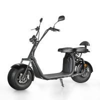 Buy cheap EcoRider 18inch fat tire 1500w 60v 12ah 2 Wheel Electric Scooter with double seat and EEC Certificate from wholesalers