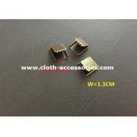 Buy cheap 1 1/10  Width Metal Ribbon End Clamps , Handmade Copper Ribbon Crimp Ends from wholesalers