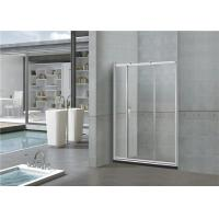 Buy cheap Printed Sliding Glass Shower Doors 6MM With Big Brass Wheel SGCC Certification from wholesalers