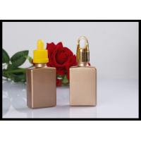 Buy cheap Gold Flat Square Glass Bottle E liquid Comestic Use Rectangle Dropper Bottle from wholesalers