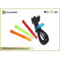 Buy cheap Multi-Color Wire Hook And Loop Cable Ties Logo Imprint SGS ROHS from wholesalers