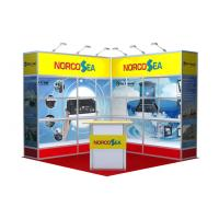 Buy cheap 3x3 Fabric Trade Show Exhibition Graphic Booth Display , Easy To Set Up from wholesalers