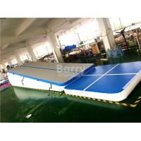 Buy cheap Double Wall Fabric Blue Floating Water Inflatable Air Track Ramp For Slide from wholesalers