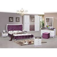 Buy cheap Middle East Style 6 Door Wardrobe / King Size Bedroom Sets Lacquer Painting from wholesalers