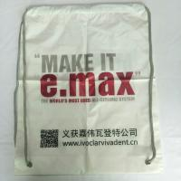 Buy cheap Rope Shoulder Custom Plastic Drawstring Bags Double Layer Material Synthetic from wholesalers