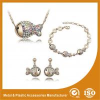 Buy cheap Gold Plated Ladies Jewelry Sets Fish Shape Bracelet Earring Necklace Set from wholesalers