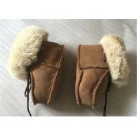 Buy cheap Genuine Sheepskin Baby Shoes , Winter Boots for Infant / Toddler from wholesalers