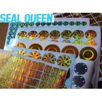 Buy cheap Anti Fake Void Custom Die Cut Radium Stickers Security Hologram Stickers from wholesalers