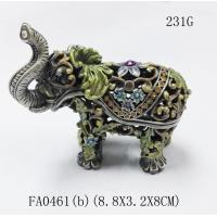 Buy cheap Funky elephant group set decorative indian metal jewellery boxes from wholesalers