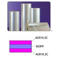 Buy cheap Both sides Acrylic coated BOPP film from wholesalers