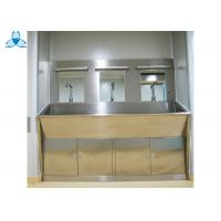 Buy cheap Three Mirrors Hand Washing Bathroom Basin Cabinets With Three Positions Automatic Induction from wholesalers