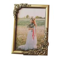 Buy cheap 5x7 inch Custom Make Antique Brass Plated Metal Rose Picture Frames from wholesalers