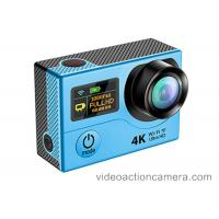Buy cheap Ultra 4k Sports Action Camera Waterproof With Fish Eye , Action Camcorder Hd 720p from wholesalers
