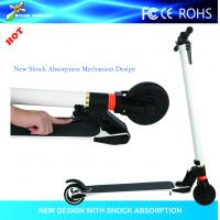 6.3kg only new Light weight carbon fiber 2 wheel foldable electric scooter with shock absorption mechanism