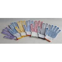 China cotton yarn knitted gloves with pvc dotted on sale