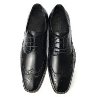 Buy cheap Mens Casual Leather Shoes / Mens Black Oxford Shoes Fashion Italian Style from wholesalers