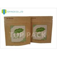 Buy cheap SGS Approval Foil Stand Up Herbal Incense Pouch Kraft Paper Zipper Closure product