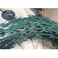 Buy cheap PVC Coated Razor Barbed Wire CBT 60 Epoxy Single Coil Without Clips from wholesalers