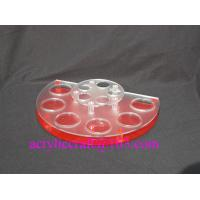 Buy cheap Acrylic countertop cosmetic display stand, plexiglass body lotion holder from wholesalers