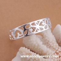 Buy cheap hollow feature silver woman bangle cuff bracelet from wholesalers