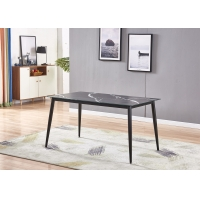 Buy cheap Painted Petal Leg 90cm 50kgs Modern Black Dining Table from wholesalers