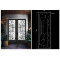 Buy cheap Professional Wrought Iron Glass Inlaid Door Glass For Building Sound Insulation from wholesalers