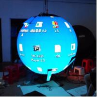 Buy cheap Flexible Indoor Hanging Led Video Ball Display , Led Ball Screen Energy Saving product