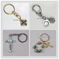 Buy cheap rosary key chain,  rosary mobile chain,  religious key chain,  metal key chain from wholesalers