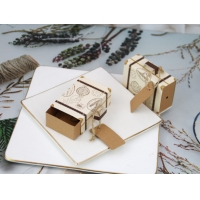 Buy cheap Mini Luggage Drawer Wedding Favour Gift Boxes With Kraft Tag from wholesalers