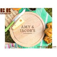 Buy cheap Eco-Friendly Personalized Home Cheese Board and Knife Set - Gifts for Couples 22cm Diameter, 4.5cm Depth from wholesalers