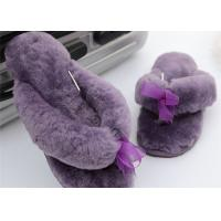 Buy cheap Sheep Wool Slippers New Model Women Style Genuine Sheepskin Slipper Free Sample Purple Color from wholesalers