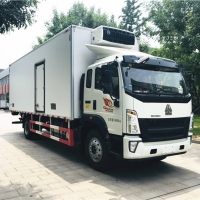 Buy cheap New HOW0 12-15 tons meat freezer truck refrigerated box truck for sale, HOT SALE! best price HOWO cold room box truck from wholesalers