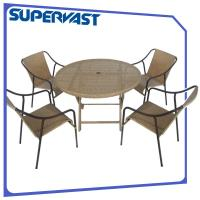 Buy cheap ISO9001 Outdoor Garden Patio Furniture Dining Sets 5PC Rattan Dining Table and Chair from wholesalers