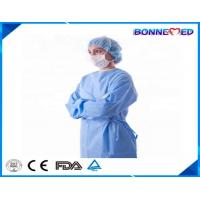 Buy cheap BM-7025 Good Qulaity Hospital Use Professional Protective Plastic Disposable Blue Color Patient Surgical Gown from wholesalers