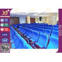 Buy cheap Metal Folding PU Molded Sponge Theater Seats With Back Table / Movie Theater product