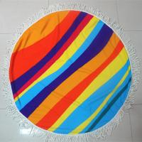 Buy cheap Factory custom your own design summer round beach towel circle beach towel customize towel from wholesalers