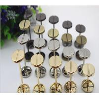Buy cheap Novelty DIY hardware accessories light gold dumbbell barbell one word shape round flat metal rivets studs for handbags from wholesalers